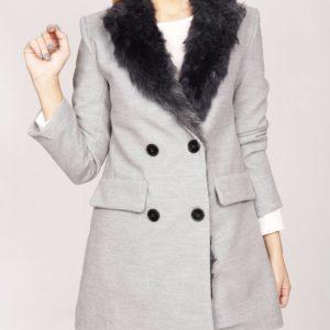 Abrigo gris pelo