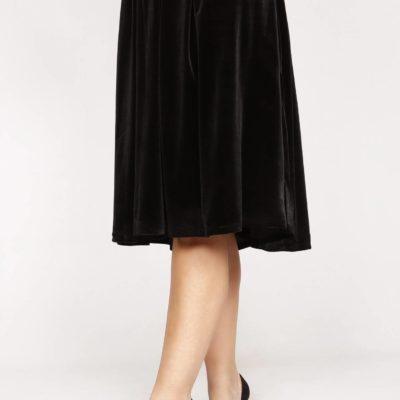 Falda terciopelo negra