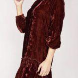 Vestido burdeos terciopelo