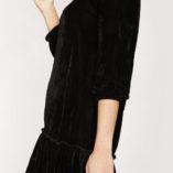 Vestido negro terciopelo