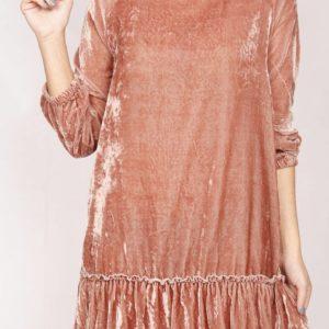 Vestido velvet rosa
