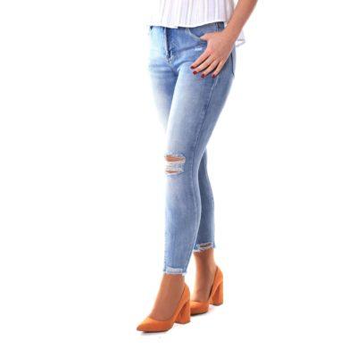 Jeans pitillo denim claro