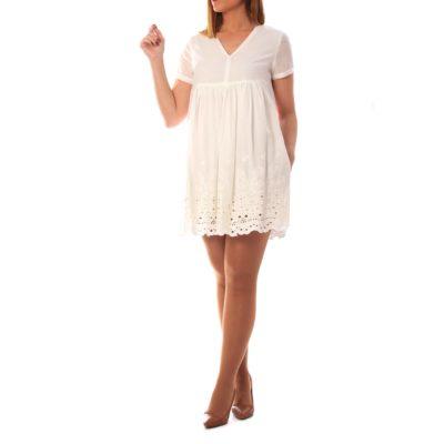 Vestido blanco bordados