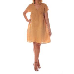 Vestido mini mostaza