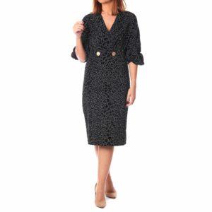 Vestido negro detalle velvet