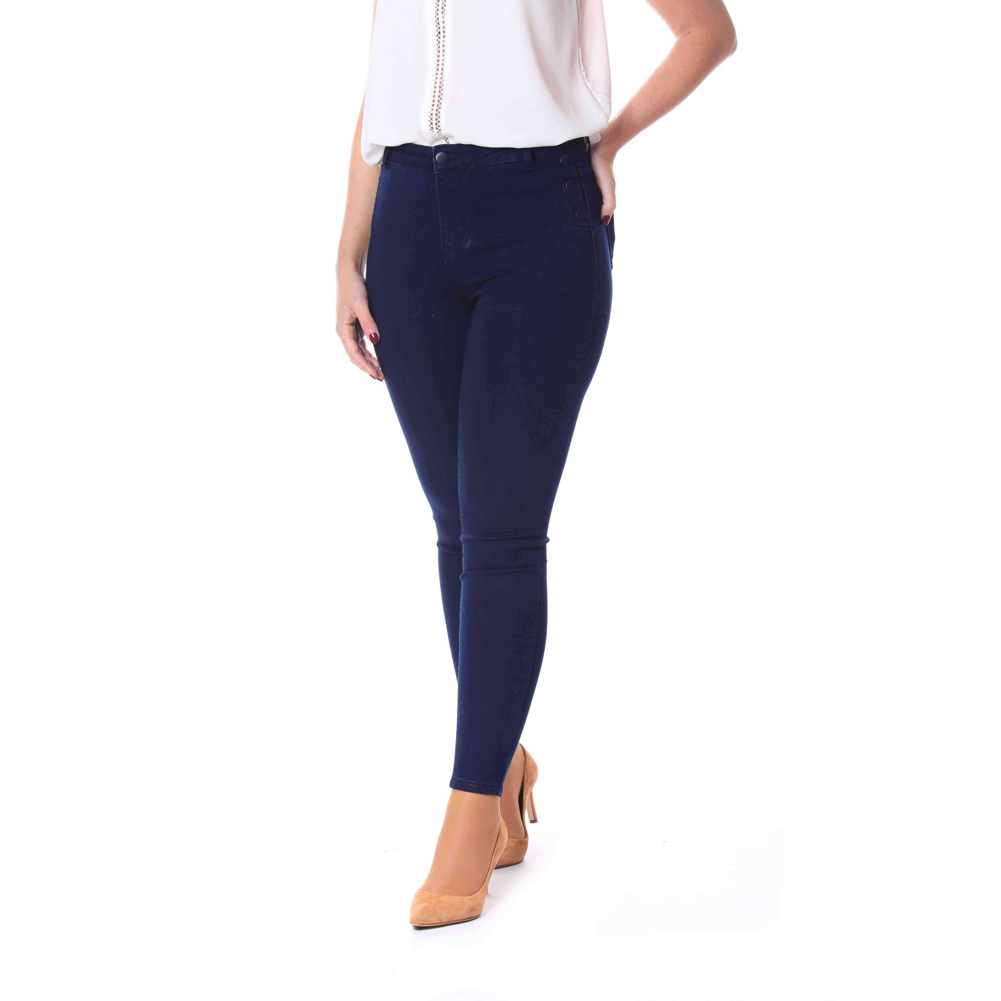 b5ac27aaf48 Jeans skinny botones lateral