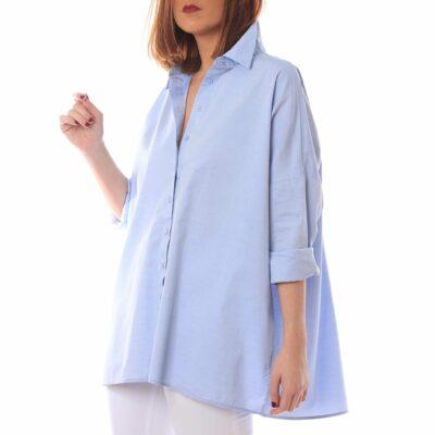 Camisa de mujer de color azul