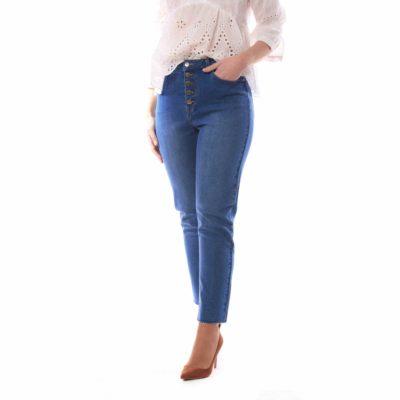 Pantalón de mujer vaquero estilo mon fit