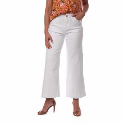 Pantalón de mujer color blanco estilo culotte