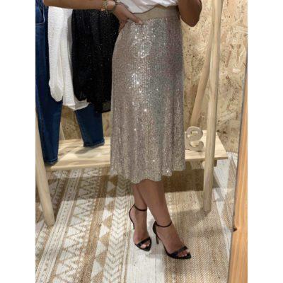 Falda de brillos con pilletes