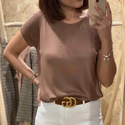 Jersey de mujer fino en color marrón