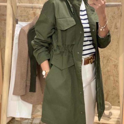 Chaqueta verde de mujer estilo para